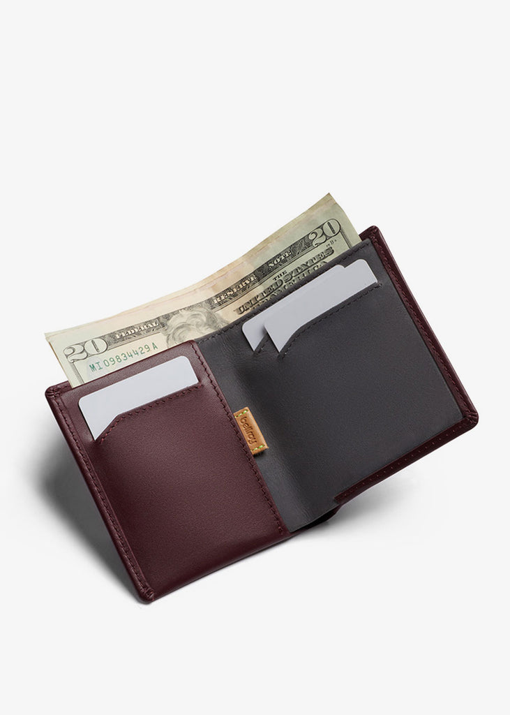 Note Sleeve Wallet Wine RFID