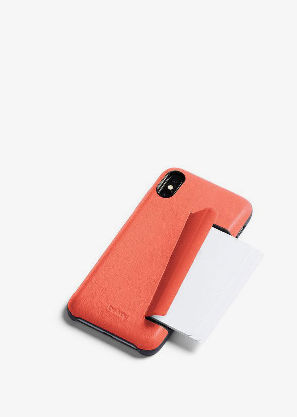 Phone Case iPhone X 3 Card Coral