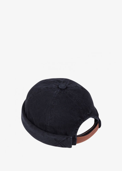 Miki Hat Black Washed