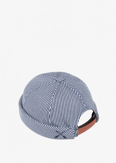 Miki Hat Blue/White Stripe