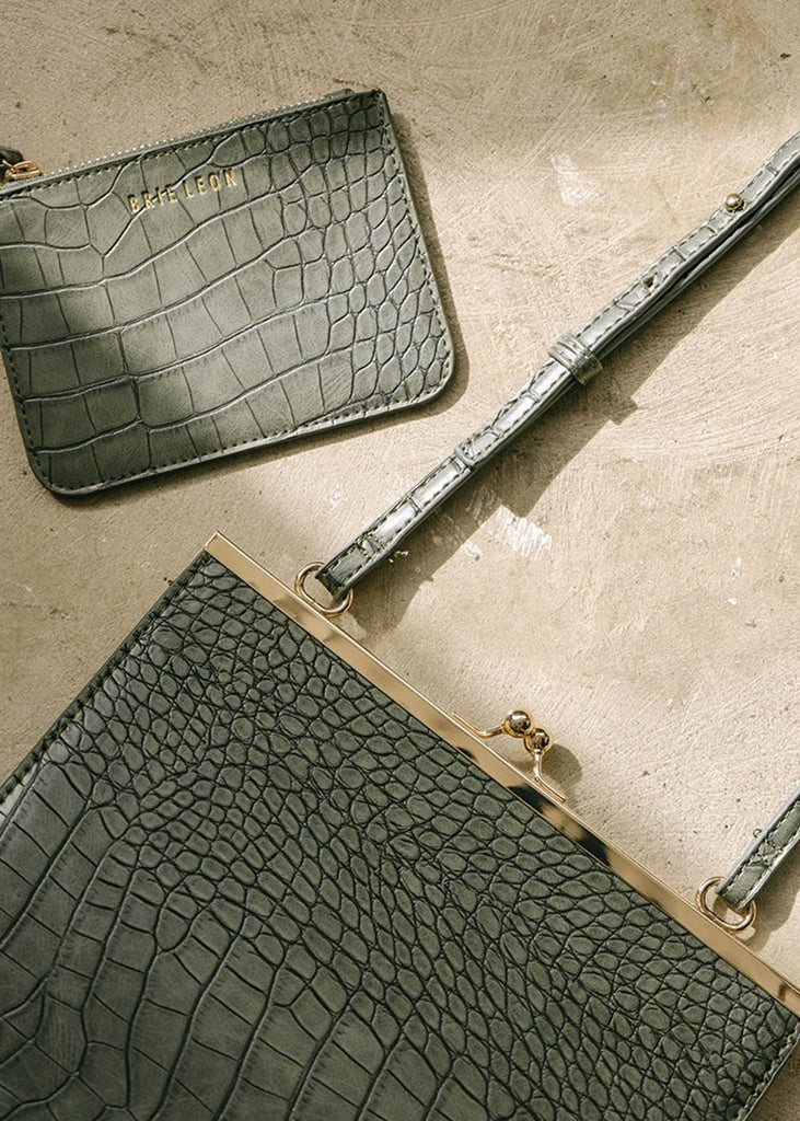 Audrey Bag Green Croc