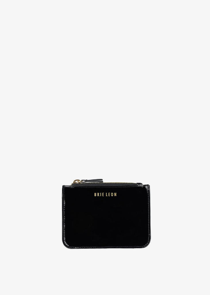 Small Zip Pouch Black Patent