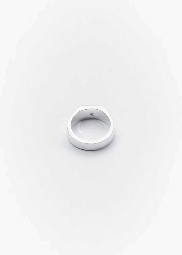 Rectangle Signet Ring Silver