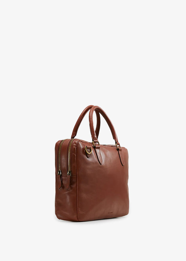 Capital Laptop Bag Double Cognac