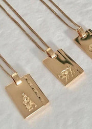 Capricorn Star Sign Pendant and Chain Gold