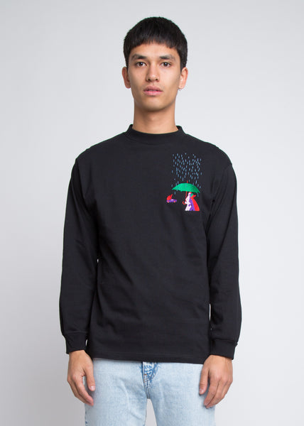 Fingers In The Rain Long Sleeve Tee Black