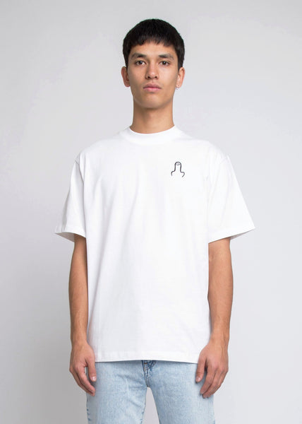 The Big D Tee White