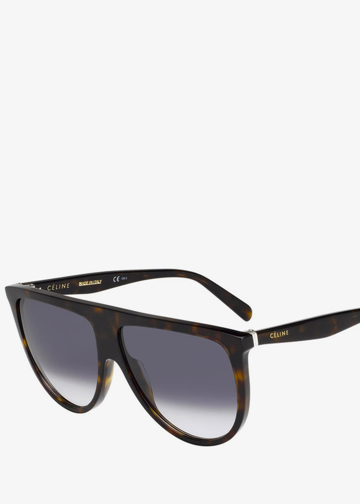 Thin Shadow Sunglasses Dark Havana