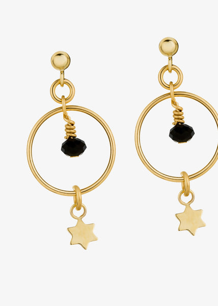 Etoile Noire Earrings Gold