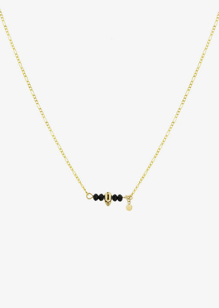 Johnny Necklace Black/Gold