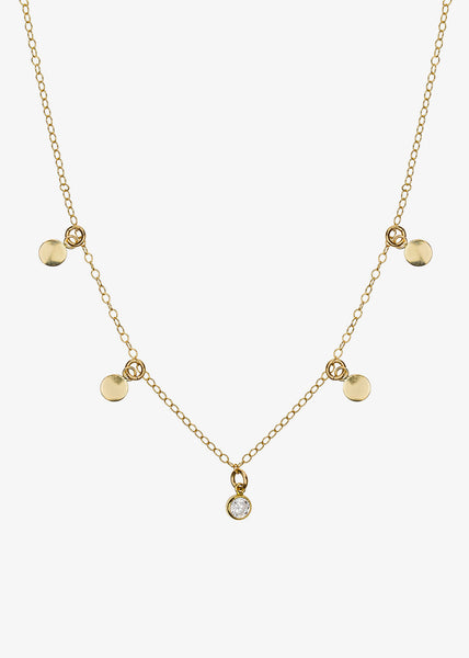 Petit Brilliant Necklace Gold