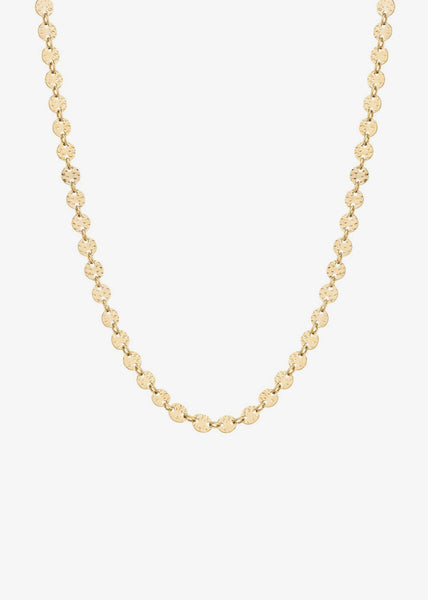 Rayon Choker Necklace Gold