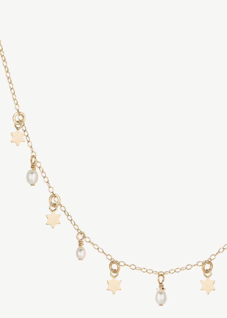 Seven Stars Necklace Pearl