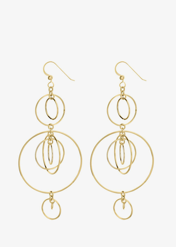 Vortex Earrings Gold