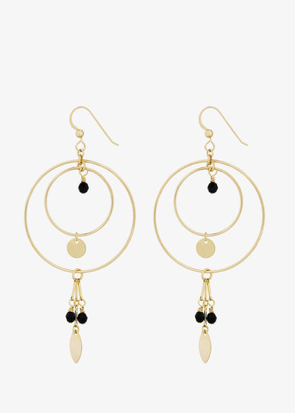 Zaza Earrings Black Gold