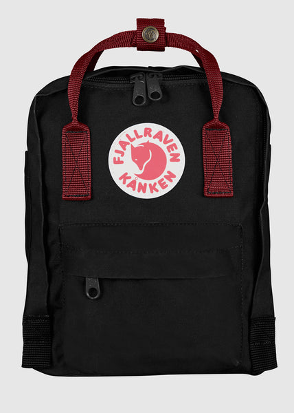 Kanken Mini Backpack Black-Ox Red