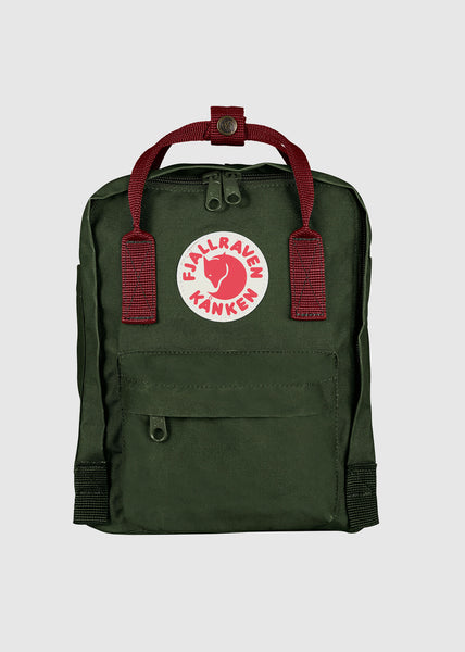 Kanken Mini Backpack Forest Green/Ox Red