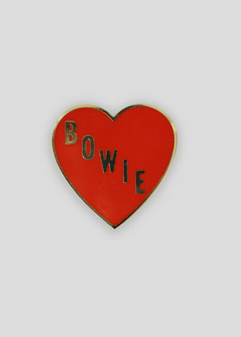 Bowie Heart Pin