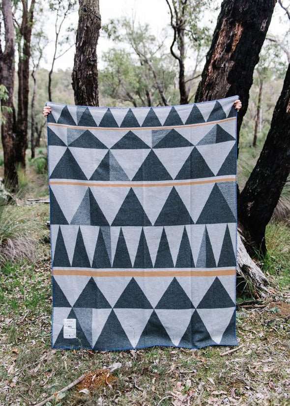 Wool Army Blanket Bush Geometry