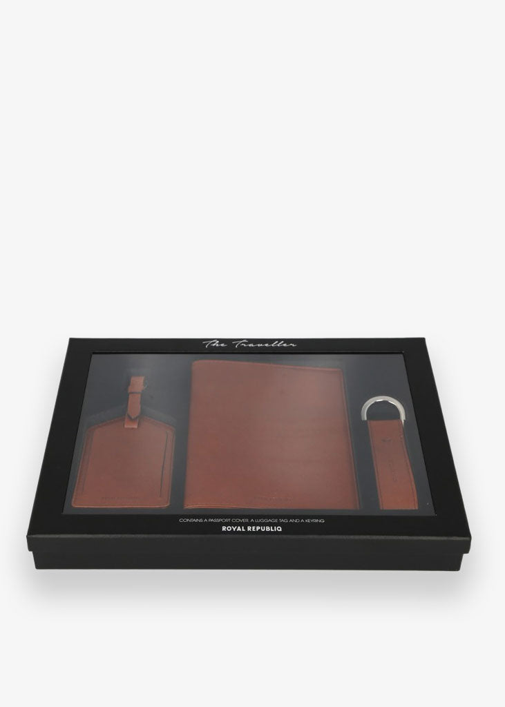 Giftbox The Traveller Men Cognac