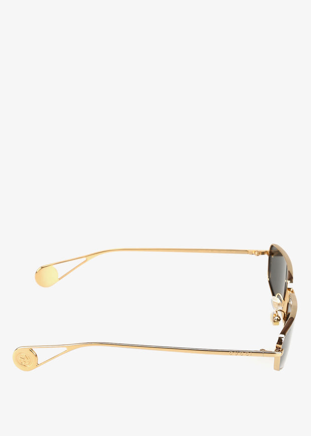 GG0537S001 Sunglasses Gold