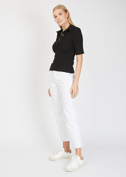 Logan Polo Top Black