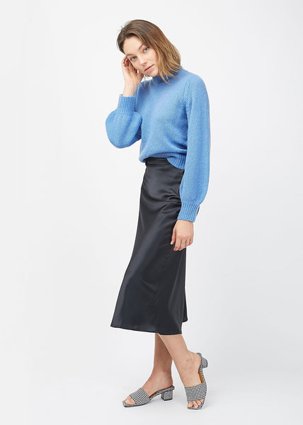Emmy Silk Skirt Midnight