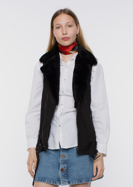 Fritha Sherling Vest Black