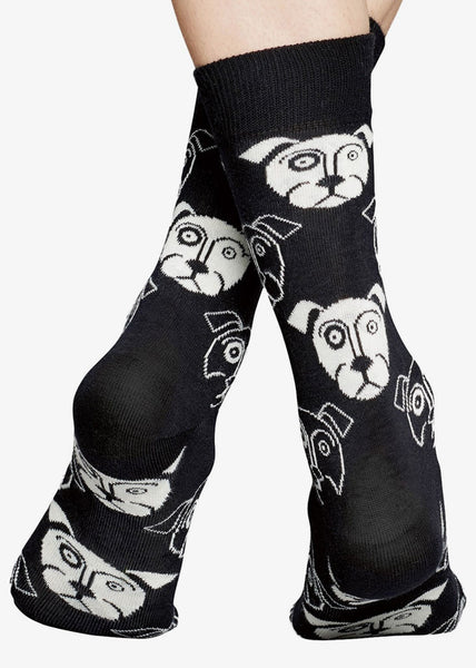 Dog Socks Black White