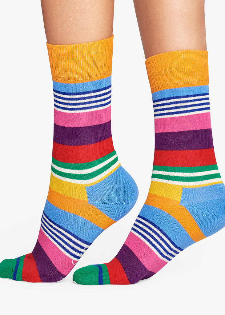 Multi Stripe Sock Multi