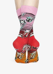 Rolling Stones Ruby Tuesday Socks Pink