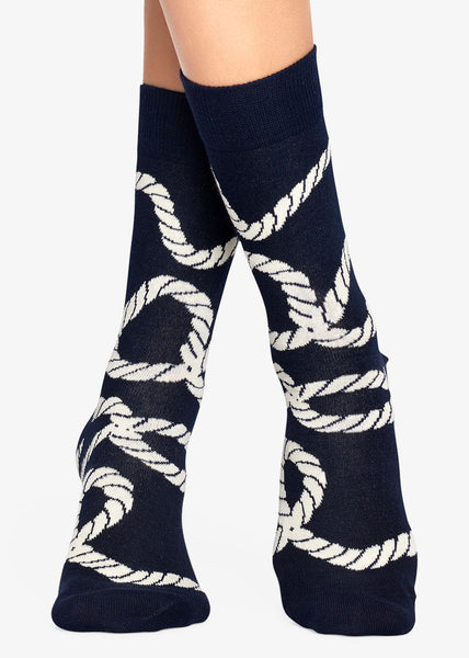 Rope Socks Navy