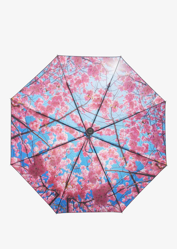 Cherry Umbrella Black/Pink/Blue