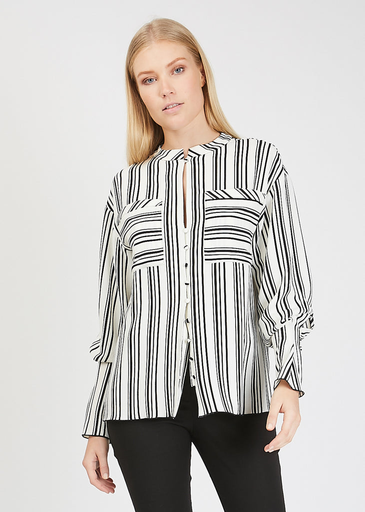 Celina Blouse Black Print