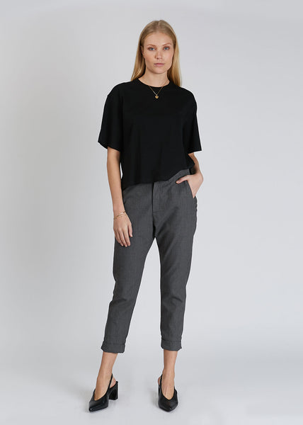 News Trousers Grey Dogtooth