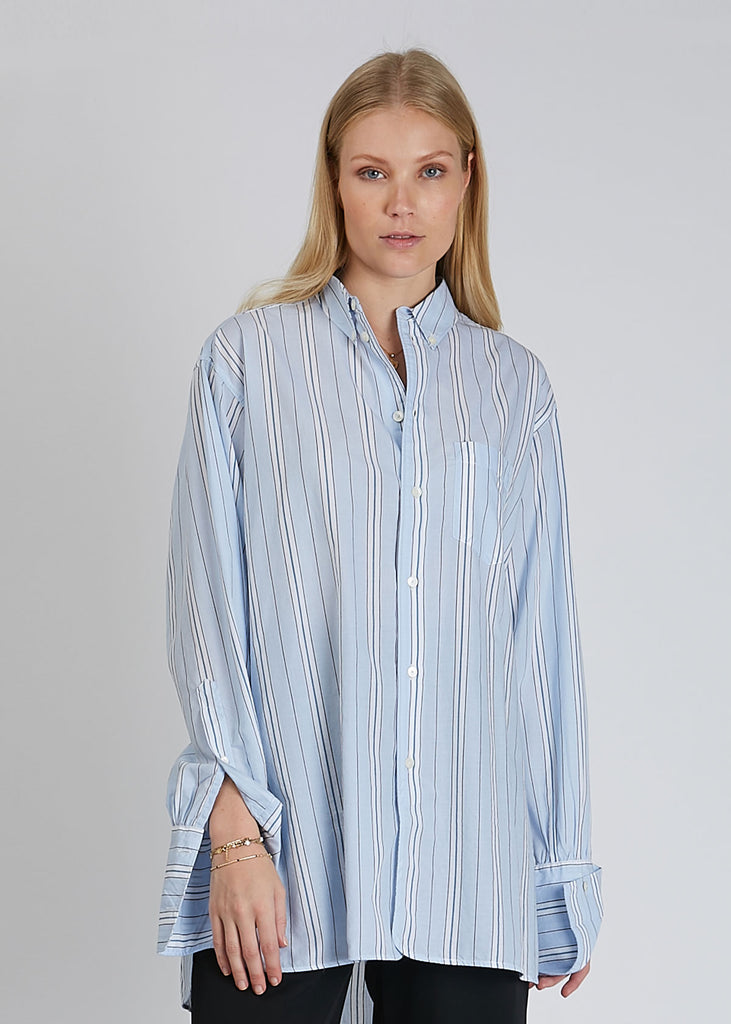 Vibe Shirt Blue Stripe