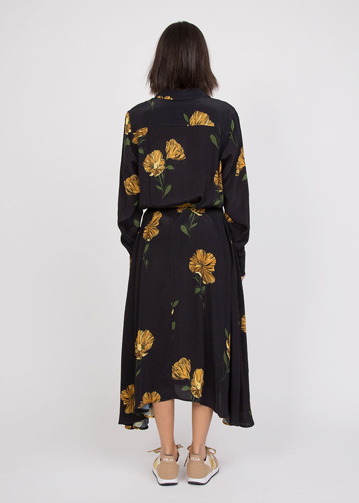 Bex Dress Yellow Flower Print