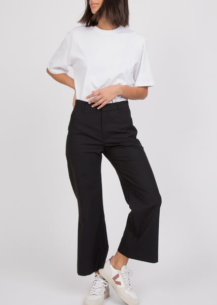 High Trouser Black Suit