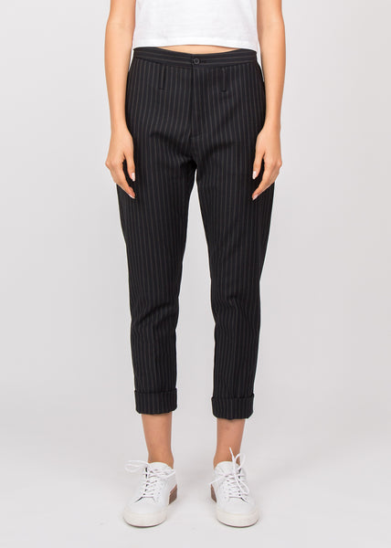 Law Trousers Dark Grey Stripe