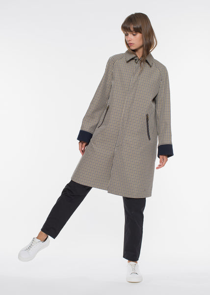 Milo Coat Green Check