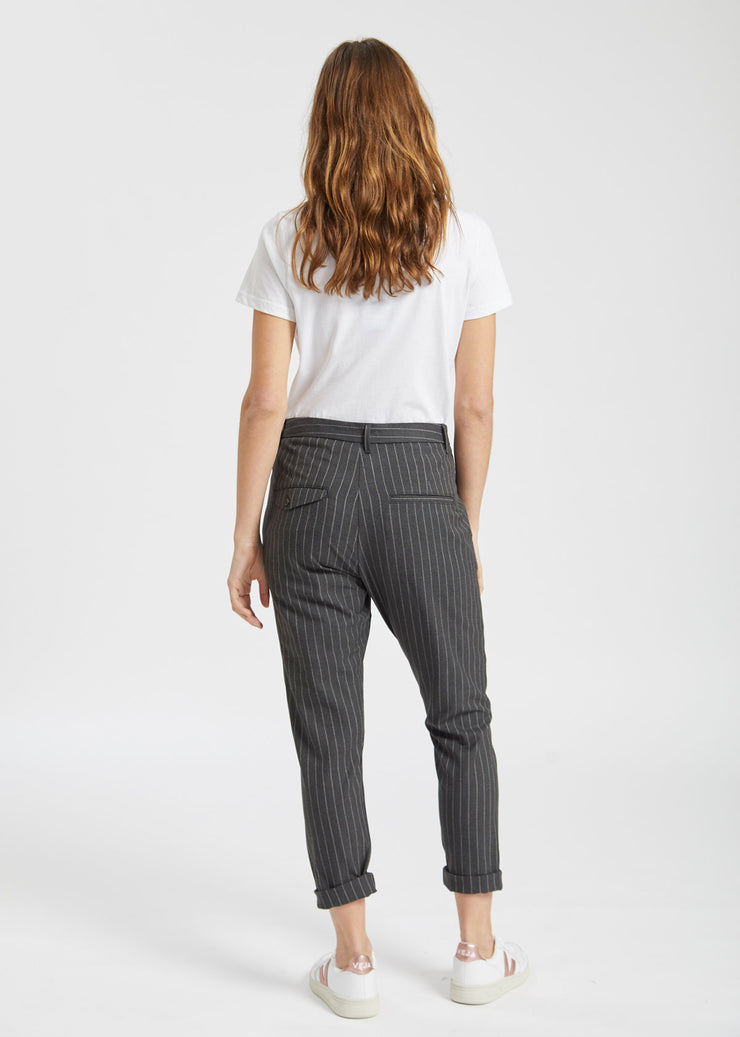 News Trousers Grey Pinstripe