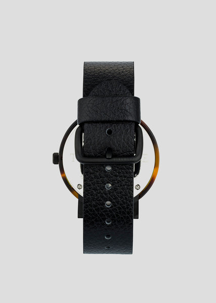 The Resin Range Watch Tortoise Shell/Black Dial/Black Band