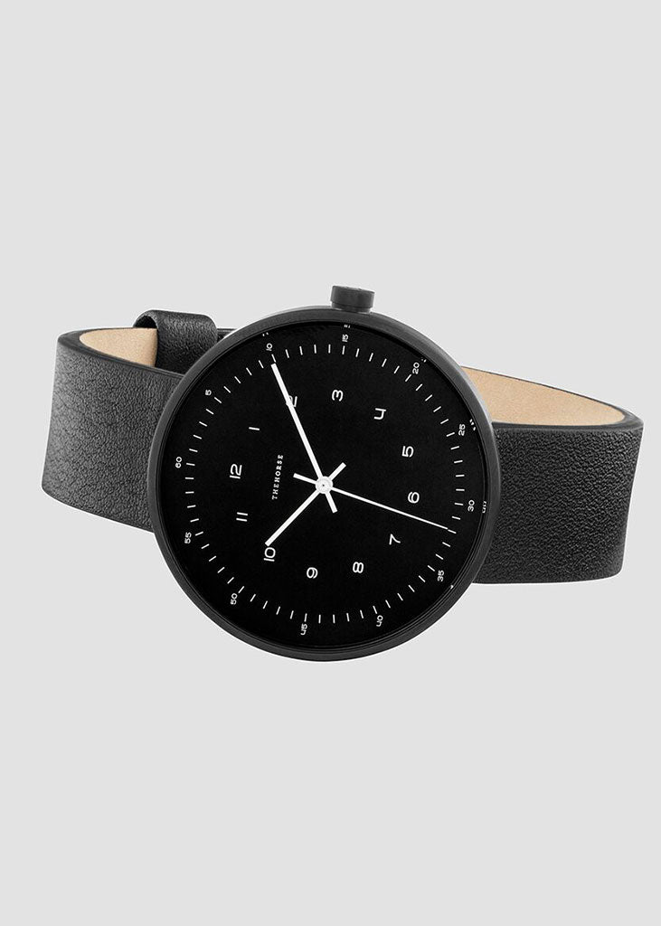 The Minimal Watch Matte Black Case/Black Dial/Black Strap