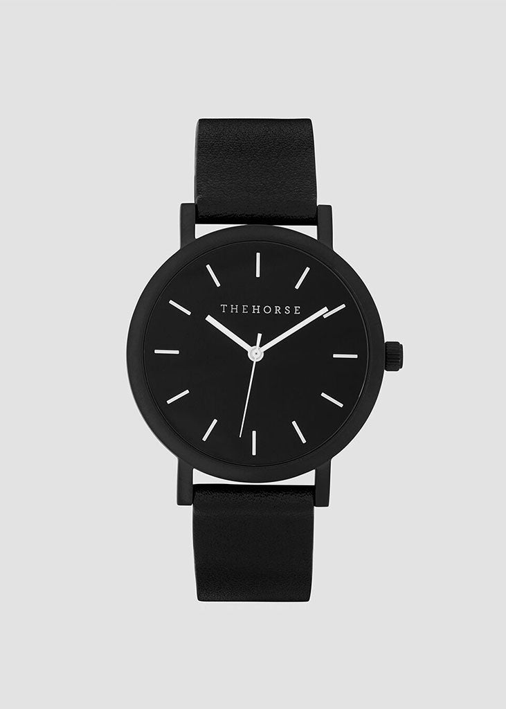 The Mini Original Watch Matte Black Case/Black Dial/Black Strap