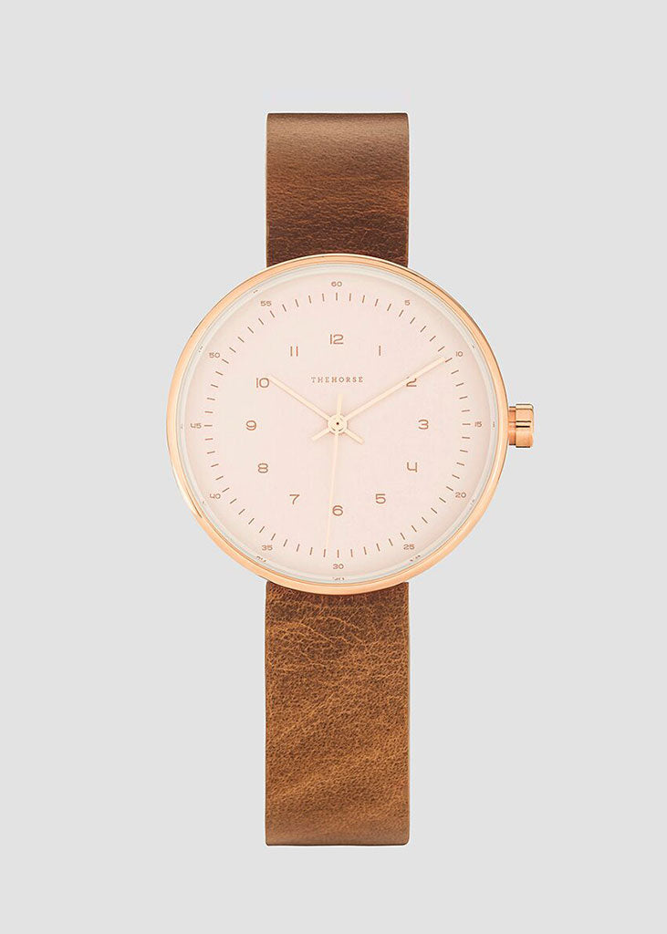The Minimal Watch Rose Gold Case/Blush Dial/Tan Strap