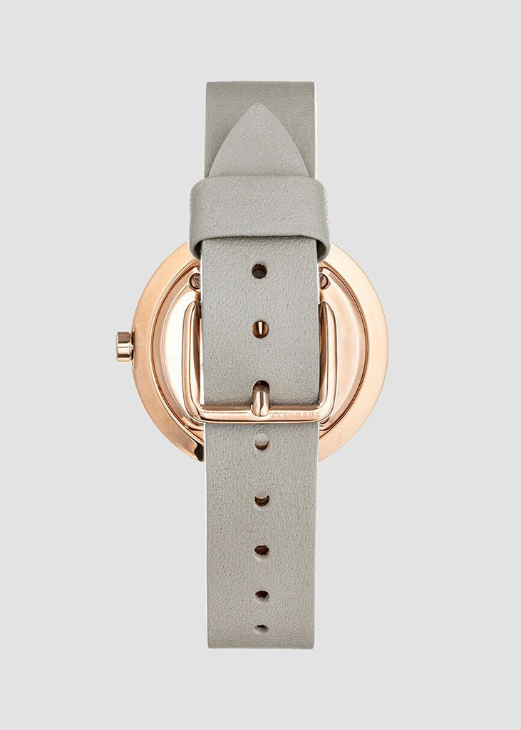 The Minimal Watch Rose Gold/White Dial/Grey Strap