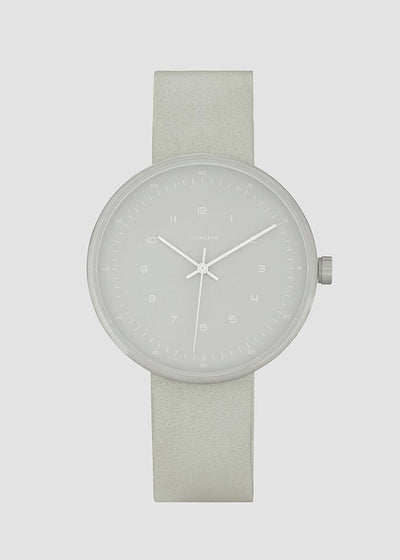 The Minimal Watch Silver Case/Grey Dial/Grey Strap