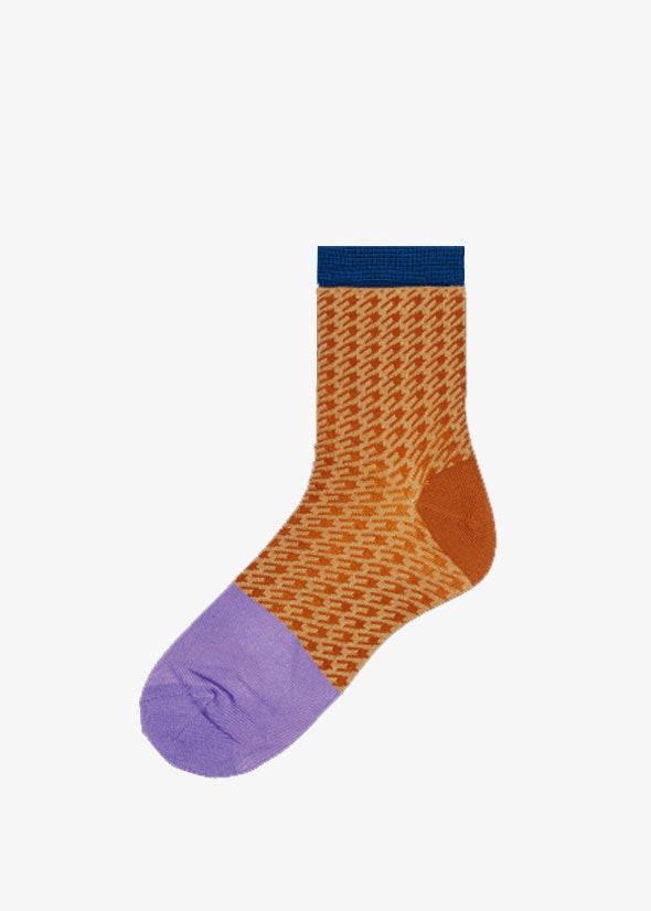 Jill Ankle Socks Rust