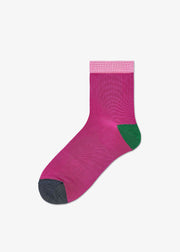 Grace Ankle Socks Purple/Green
