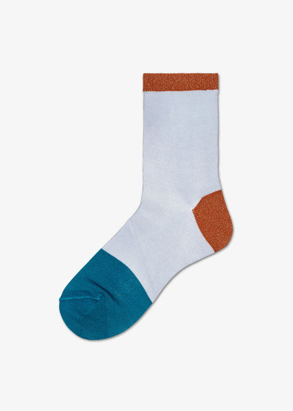 Liza Ankle Socks Blue Brown